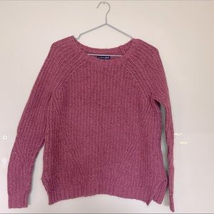 American Eagle Ahh-mazingly soft Knit Pink/Mauve Pullover Sweater Size Xsmall!